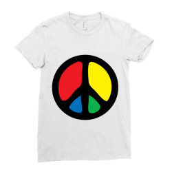 PEACE LOGO Ladies Fitted T-Shirt | Artistshot