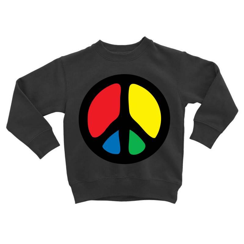 Peace Logo Toddler Sweatshirt | Artistshot