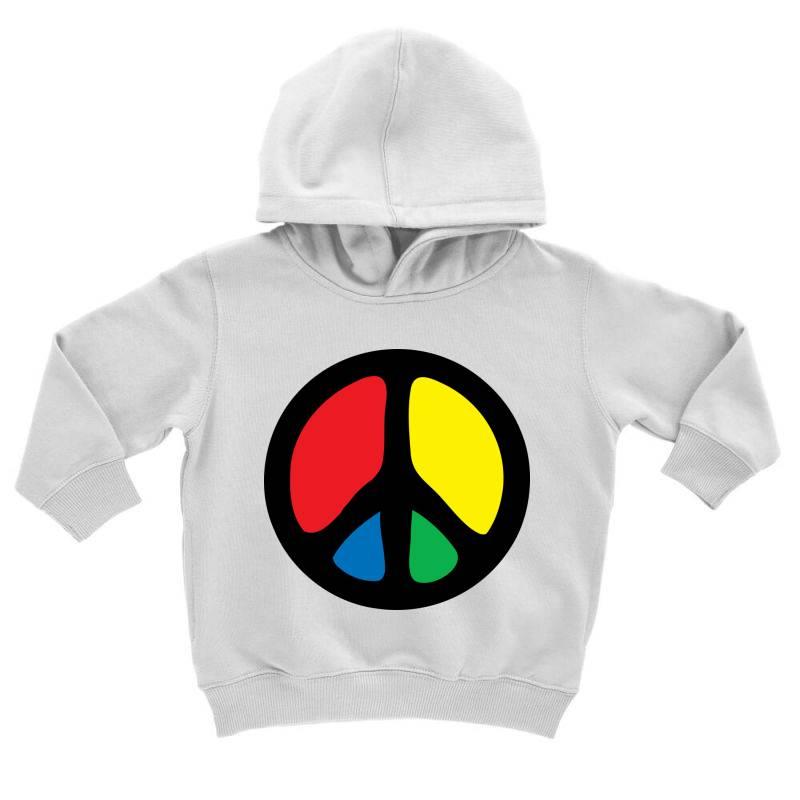 Peace Logo Toddler Hoodie | Artistshot