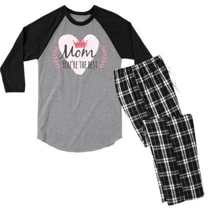 Mom You're The Best Men's 3/4 Sleeve Pajama Set Designed By Estore
