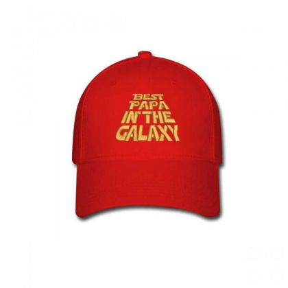 Best Papa In The Galaxy Embroidered Hat Baseball Cap Designed By Madhatter