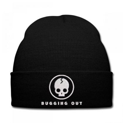 Bugging Out Embroidered Hat Knit Cap Designed By Madhatter