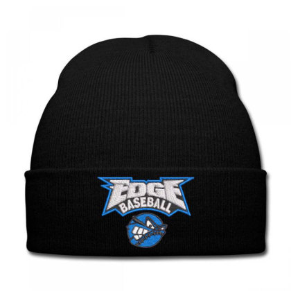 Edge Baseball Embroidered Hat Knit Cap Designed By Madhatter