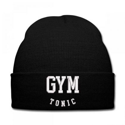 Gym Tonic Embroidered Hat Knit Cap Designed By Madhatter