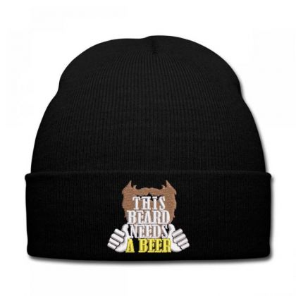 Beard Embroidered Hat Knit Cap Designed By Madhatter