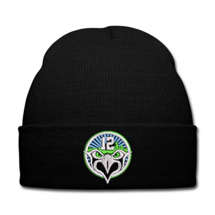 12 Eagle Embroidered Hat Knit Cap Designed By Madhatter