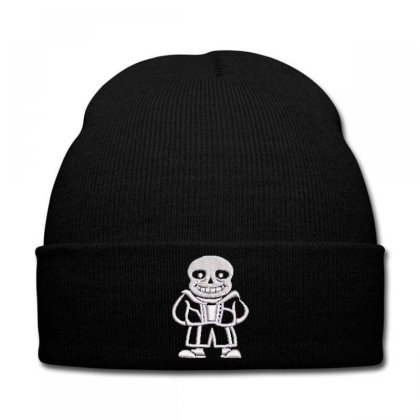 Bald Man Embroidered Hat Knit Cap Designed By Madhatter