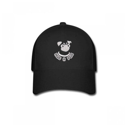 Hug A Pug Embroidered Hat Baseball Cap Designed By Madhatter