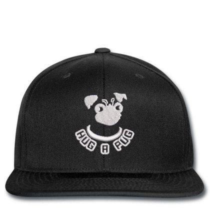 Hug A Pug Embroidered Hat Snapback Designed By Madhatter