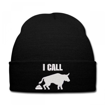 I Call Embroidered Hat Knit Cap Designed By Madhatter