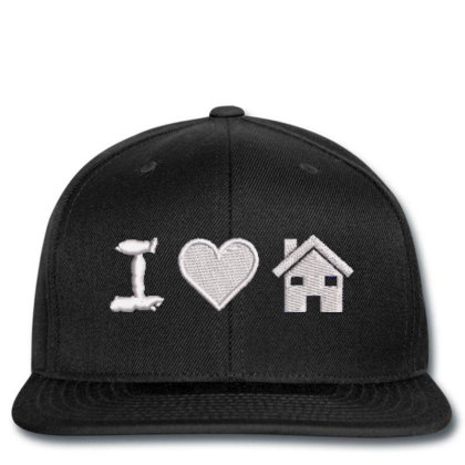 I Love Home Embroidered Hat Snapback Designed By Madhatter