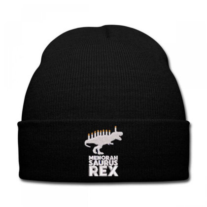 Menorah Saurus Rex Embroidered Hat Knit Cap Designed By Madhatter