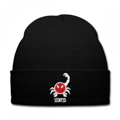 Scorpio Embroidered Hat Knit Cap Designed By Madhatter