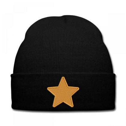 Star Embroidered Hat Knit Cap Designed By Madhatter
