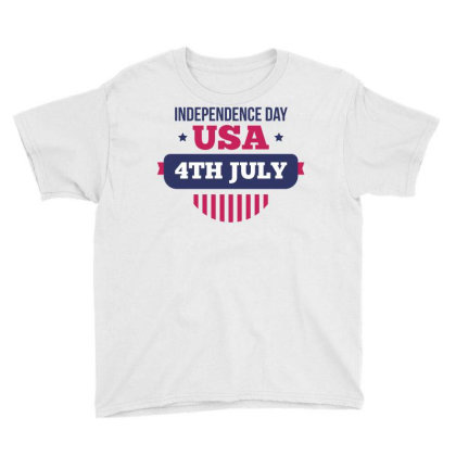 Independence Day Usa Youth Tee Designed By Estore
