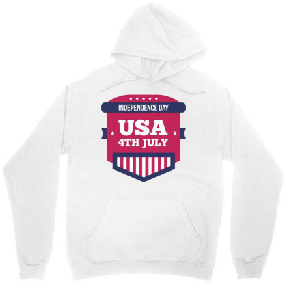 Independence Day Usa Unisex Hoodie Designed By Estore
