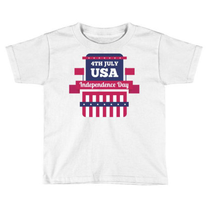 Independence Day Usa Toddler T-shirt Designed By Estore