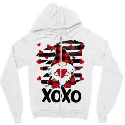 Gnome Heart Xoxo Zipper Hoodie Designed By Badaudesign
