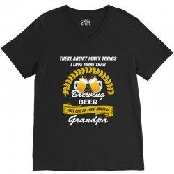 This Grandpa Loves Brewing Beer V-Neck Tee | Artistshot