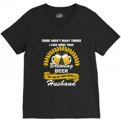 This Husband Loves Brewing Beer V-Neck Tee | Artistshot