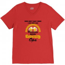This Opa Loves Brewing Beer V-Neck Tee | Artistshot