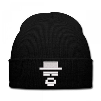Graphic Embroidered Hat Knit Cap Designed By Madhatter