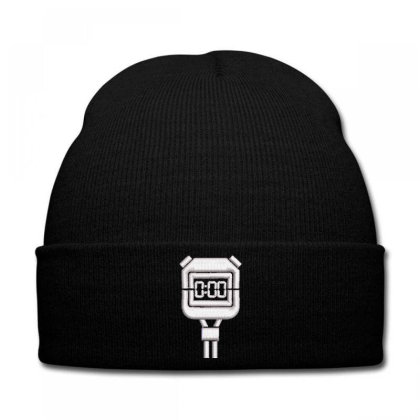 Timer Embroidered Hat Knit Cap Designed By Madhatter