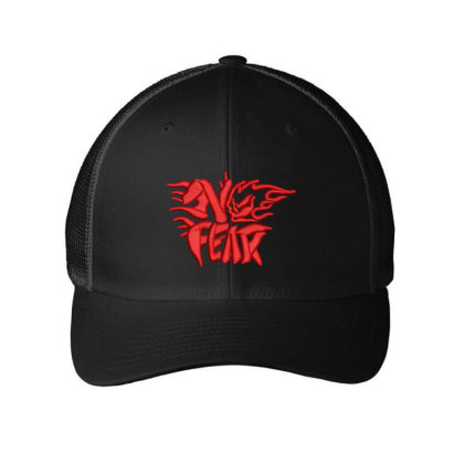No Fear Embroidered Hat Embroidered Mesh Cap Designed By Madhatter