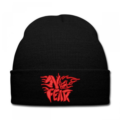No Fear Embroidered Hat Knit Cap Designed By Madhatter