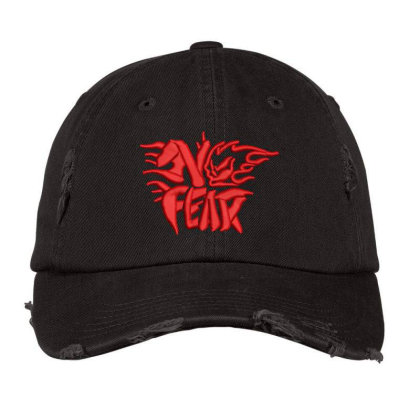No Fear Embroidered Hat Distressed Cap Designed By Madhatter