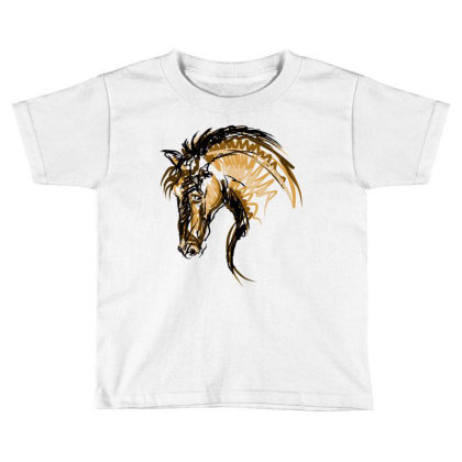 Horse Toddler T-shirt Designed By Estore