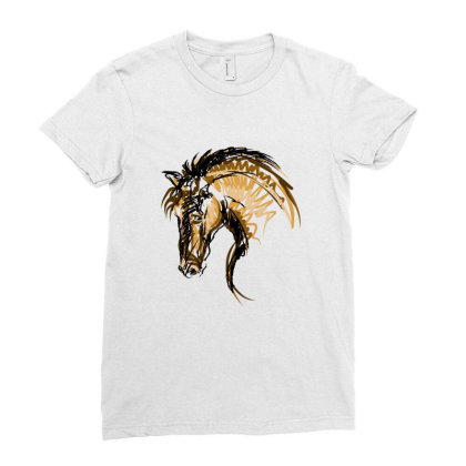 Horse Ladies Fitted T-shirt Designed By Estore
