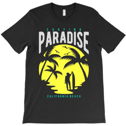 Paradise T-shirt Designed By Blqs Apparel