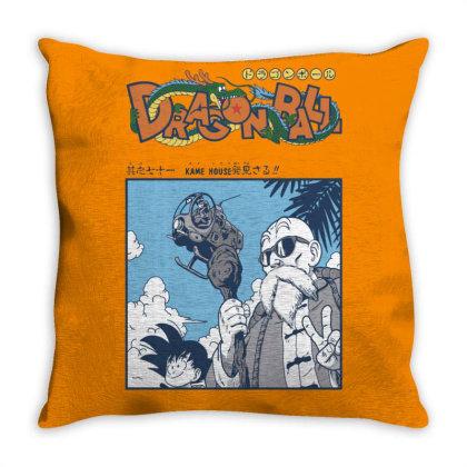Muten Roshi Throw Pillow Designed By Paísdelasmáquinas
