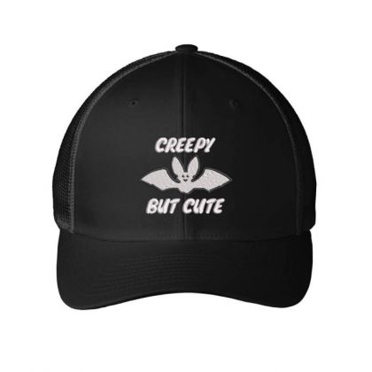 Creepy Embroidered Hat Embroidered Mesh Cap Designed By Madhatter