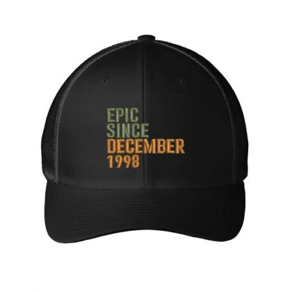 December 1998 Embroidered Hat Embroidered Mesh Cap Designed By Madhatter