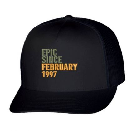 February 1997 Embroidered Hat Trucker Cap Designed By Madhatter