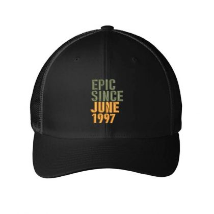June 1997 Embroidered Hat Embroidered Mesh Cap Designed By Madhatter