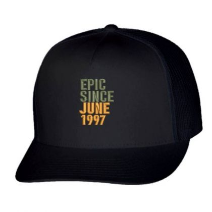 June 1997 Embroidered Hat Trucker Cap Designed By Madhatter