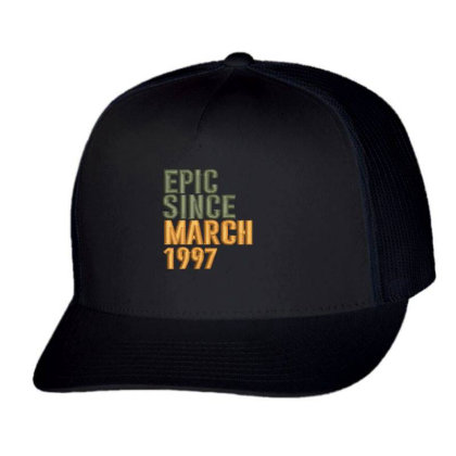 March 1997 Embroidered Hat Trucker Cap Designed By Madhatter
