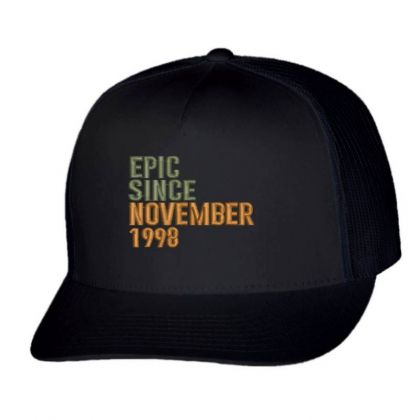 November 1998 Embroidered Hat Trucker Cap Designed By Madhatter