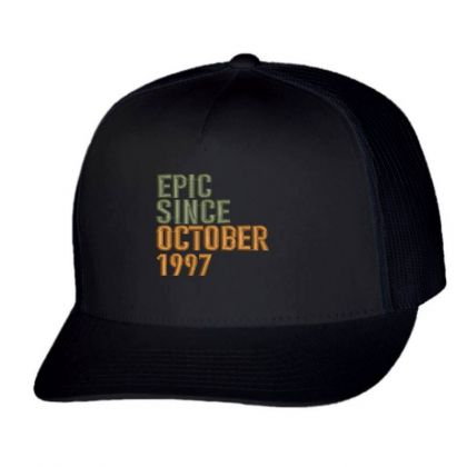 October 1997 Embroidered Hat Trucker Cap Designed By Madhatter