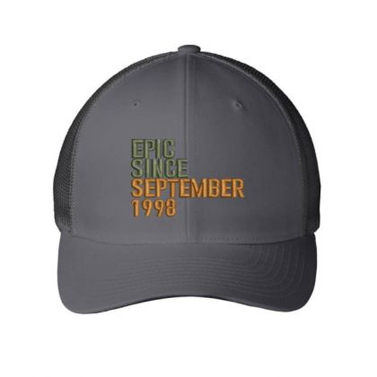 September 1998 Embroidered Hat Embroidered Mesh Cap Designed By Madhatter