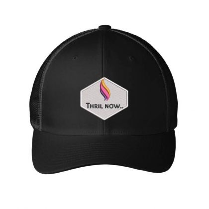 Thril Now Embroidered Hat Embroidered Mesh Cap Designed By Madhatter