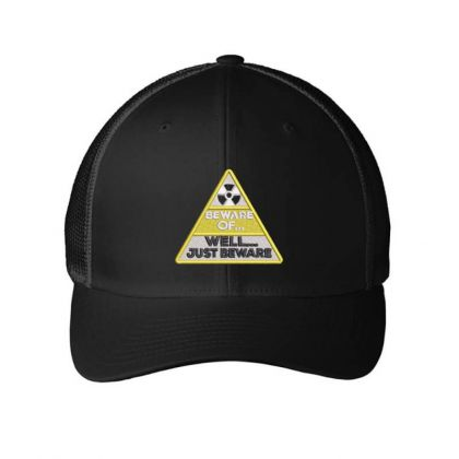 Beware Embroidered Hat Embroidered Mesh Cap Designed By Madhatter