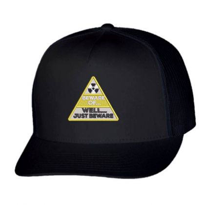 Beware Embroidered Hat Trucker Cap Designed By Madhatter