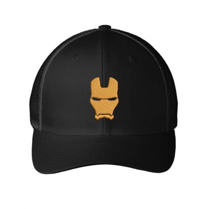 Iron Man Embroidered Hat Embroidered Mesh Cap Designed By Madhatter