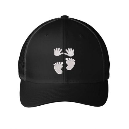 Hands&feets Embroidered Hat Embroidered Mesh Cap Designed By Madhatter