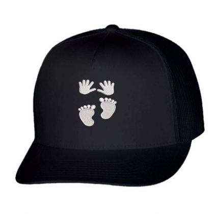 Hands&feets Embroidered Hat Trucker Cap Designed By Madhatter