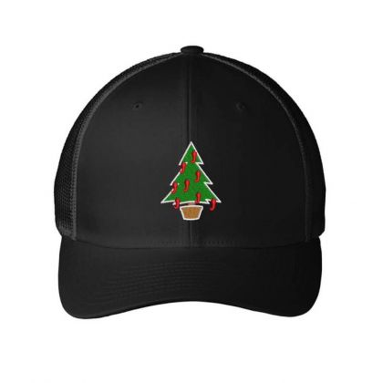 Xmax Tree Embroidered Hat Embroidered Mesh Cap Designed By Madhatter
